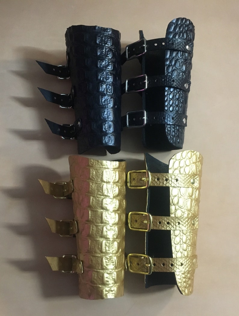 Thor/'s Hammer Leather Armguard Sleeve Protectors Real Cowhide /& Leather Strings
