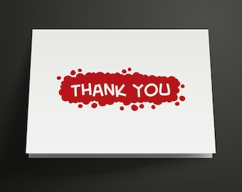 Bubble Printable Thank You Card, Instant Download