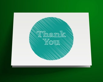 Sketch Printable Thank You Card, Instant Download