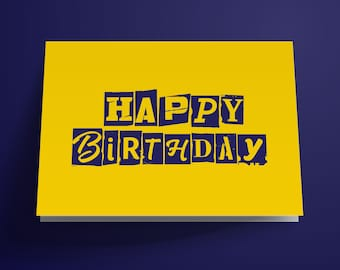 Ransom Printable Birthday Card, Instant Download