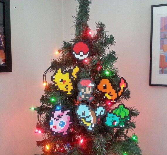 Pokemon Perler Bead Christmas Ornaments new years eve party | Etsy