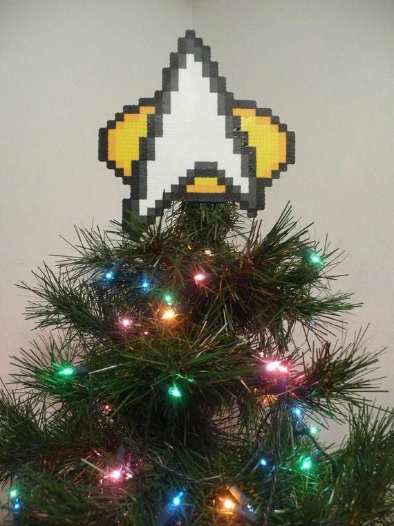 Star Trek Perler Bead Christmas Tree Topper - Star Trek Perler Bead Christmas Tree Topper Etsy