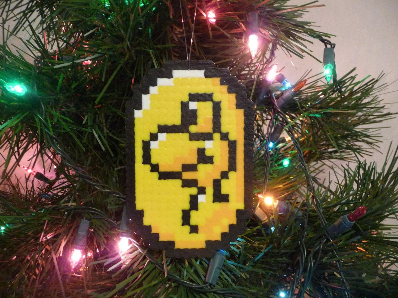 Super Mario World Yoshi Coin Perler Bead Christmas Ornament | Etsy