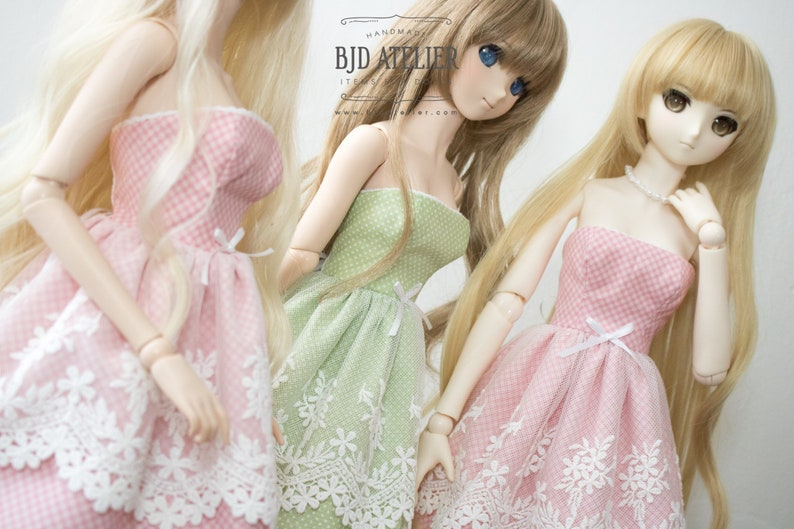 Green Lace Doll Dress / Dollfie Dream Clothes / Smart Doll image 0