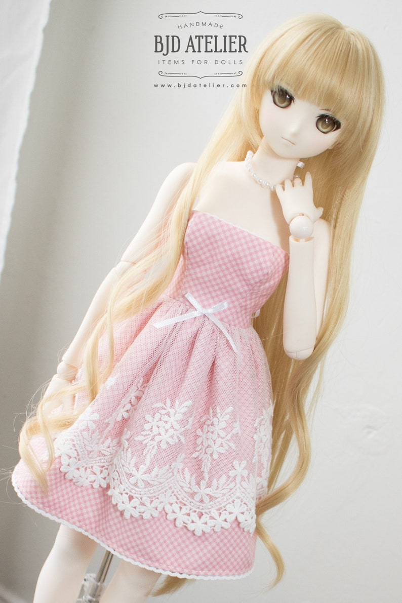 Pink Lace Doll Dress / Dollfie Dream Clothes / Smart Doll image 0