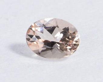 Natural Morgonite Beautiful Peach color Oval Shape Pair 1.64cts 8x6mm Good Quality in Good Price