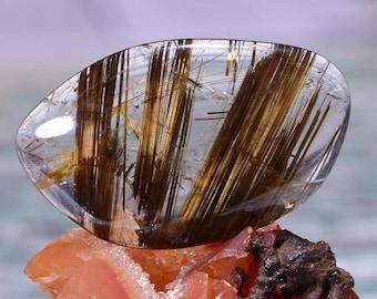 Rutilated Quartz Cabochon Natural Rutilated Quartz Cabochon Genuine Quartz Cabochon