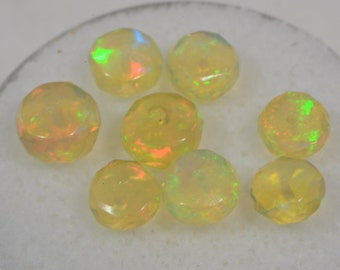 Ethiopian Welo Opal Faceted Beads Ethiopian Opal Natural Gemstone Beads Jewelry Making Supplies