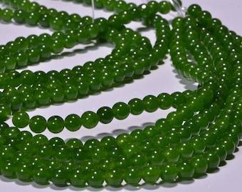 Jade 6.4mm Beads Natural Gemstone Beads Jade  Beads Jewelry Making Supplies