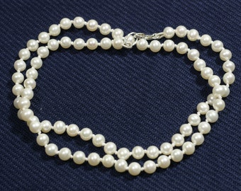 Pearl Necklace Single Strand Pearl Necklace Birthstone June Bridal Pearl Necklace