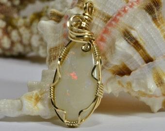 Opal Pendant Solid Opal Natural Opal Jewelry Pendant Australian Opal Jewelry
