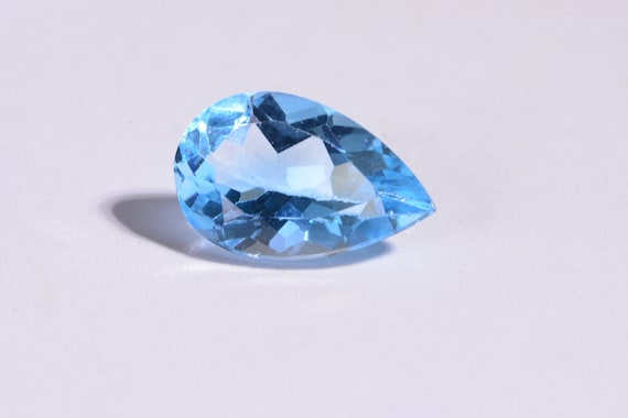 Natural Sky Blue Topaz Loose Gemstone Lot of 3x5mm To 10x14mm Pear Faceted Cut
