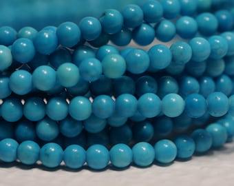 Sleeping Beauty Turquoise Beads 2.3 mm Round Beads Natural Gemstone Beads