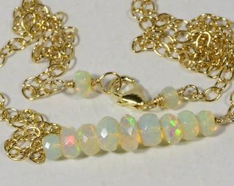 Welo Opal Necklace Ethiopian Opal Necklace Ethiopian Opal Natural Opal Jewelry