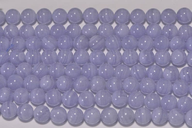 Blue Lace Agate 8mm Beads Natural Gemstone Lace Agate Beads Jewelry Making Supplies