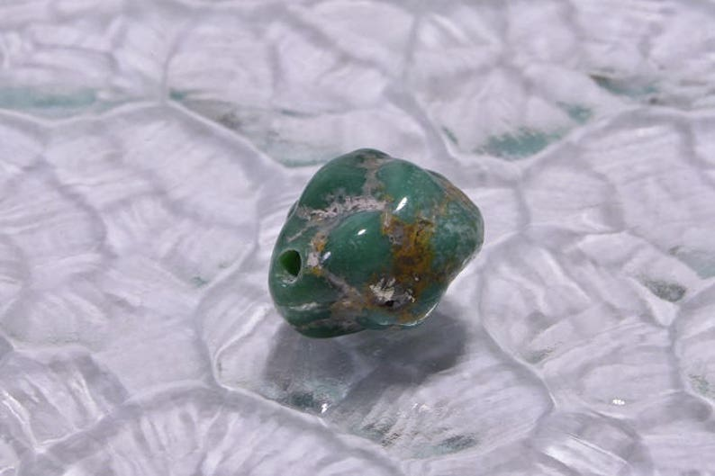 Campitos Turquoise 1 Bead Nugget Bead Natural Turquoise Jewelry Making Supplies