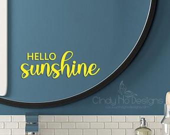 Hello Sunshine Typography Decal