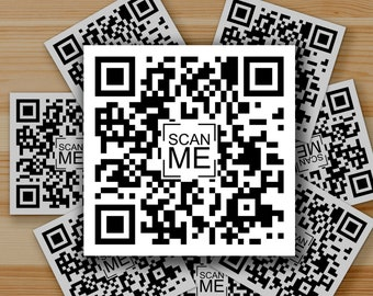 5 Never Gonna Give You Up - Rick Astley Rick Roll - Set of 5- QR Code Foil Printed Stickers