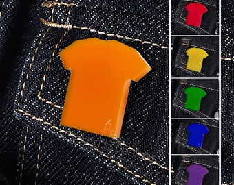 T-Shirt Shaped Pin / Brooch - Show Your Support to Your Cause