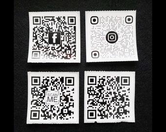 10 QR Code Foil Printed Stickers - Set of 10 - Instagram, Facebook, Website
