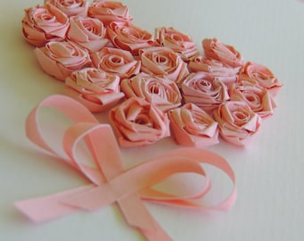 A scented  card - quilled pink rose paper
