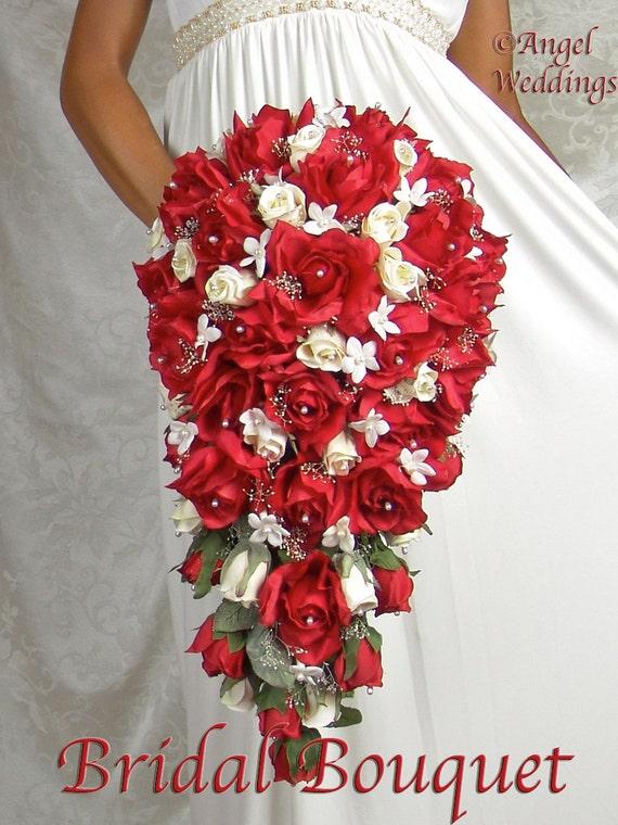 Selene Red Silk Flowers Babies Breath Roses Rosebuds Calla Etsy