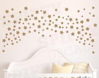 Stars Wall Decal Set of 150+ Wall Decal Vinyl Sticker Decor Confetti Nursery Bedroom Crib by Spiffy Decals