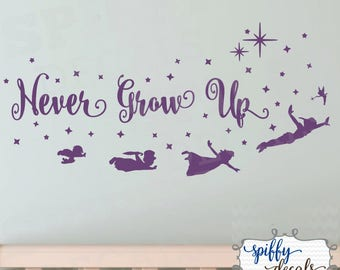More Colors Peter Pan Tinkerbell Wendy John Michael Flying Never Grow Up