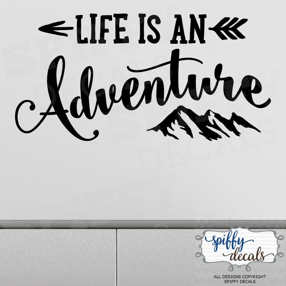 Life Is An Adventure Wall Decal Vinyl Sticker Quote Travel ...