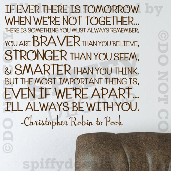 Christopher Robin Quotes | Winnie The Pooh Christopher Robin Quote Wall Decal Etsy