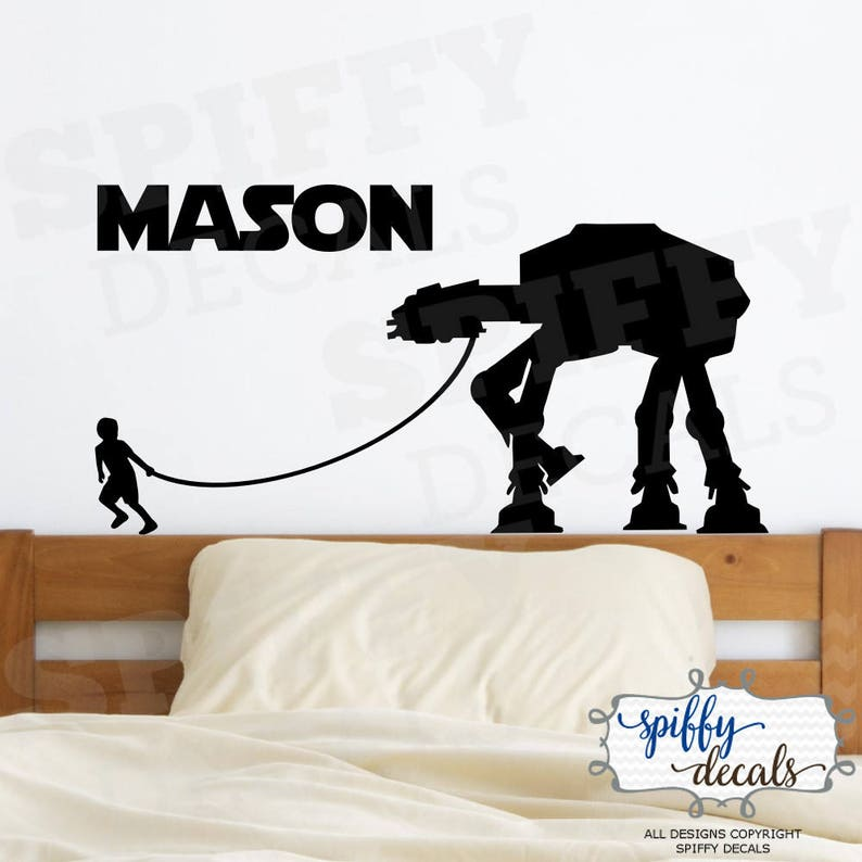 Sticker//decal star wars customizable name 3 sizes