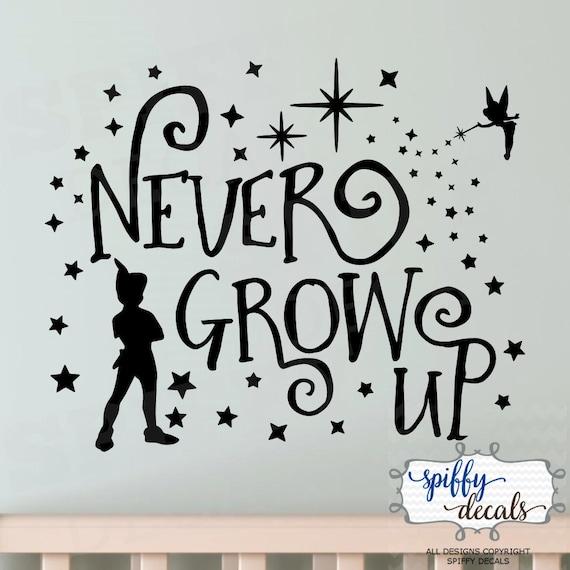 Peter Pan Tinkerbell Nie Erwachsen Werden Zweiten Stern Etsy