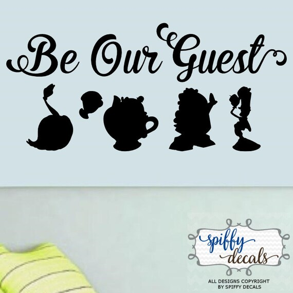 Sticker Buffet Disney Inspired Beauty and The Beast Be Our Guest Wall Art Stickers