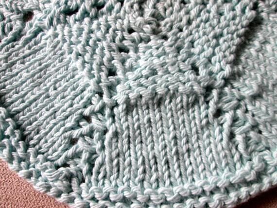 Round Dishcloth Knitting Pattern Circular Dishcloth Knitting Etsy