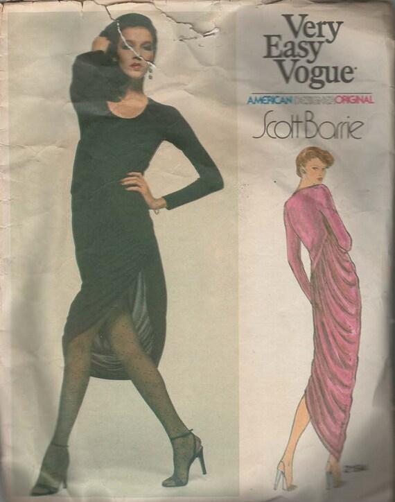 Vogue Designer-Kleid Muster von Scott Barrie Pullover-Kleid | Etsy