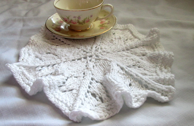 Fine Circular Dishcloth Knitting Patterns Ornament - Sewing Pattern ...