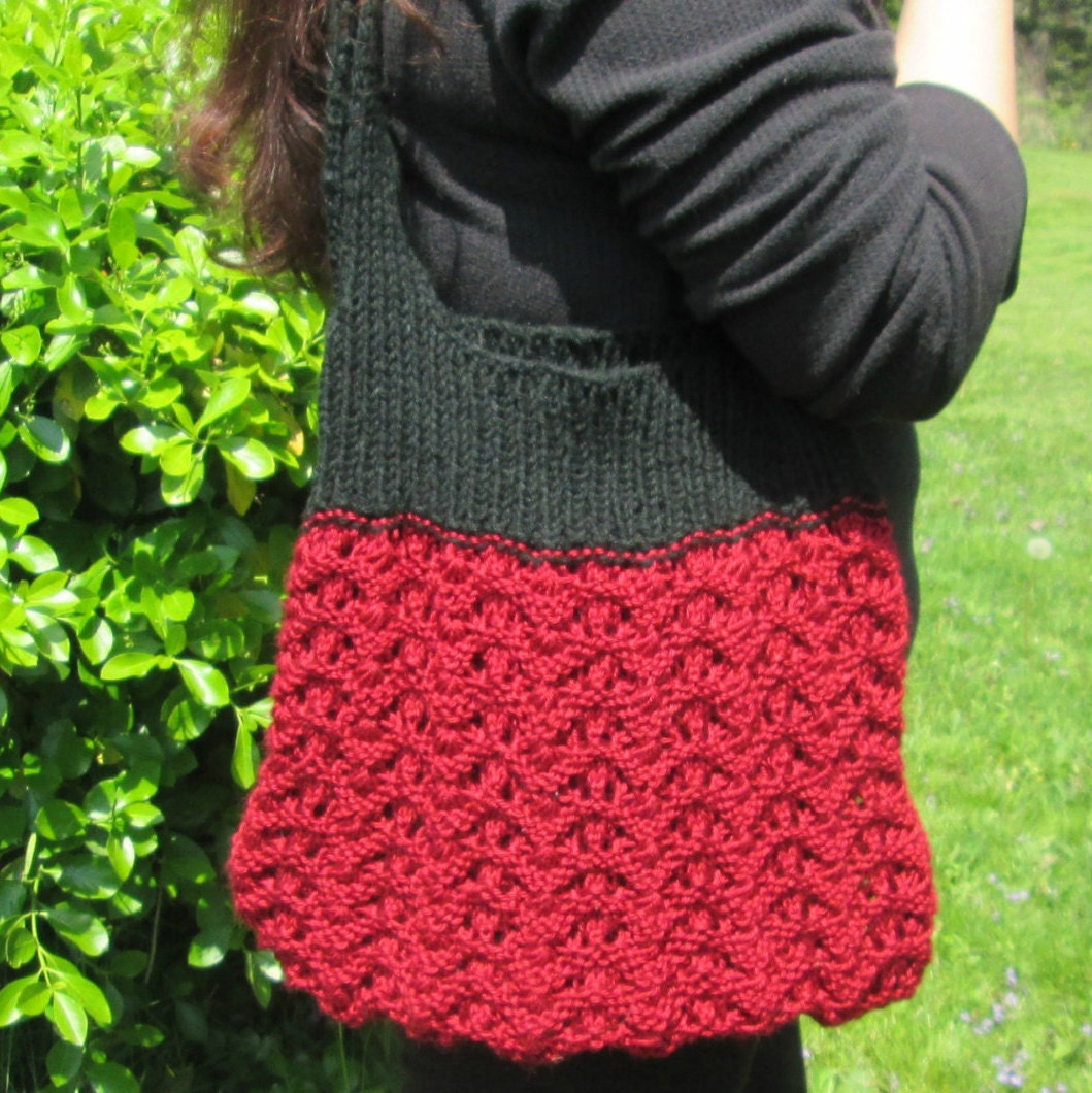 Tote Bag Knitting Pattern, Knit Purse Pattern, Market Bag Pattern ...