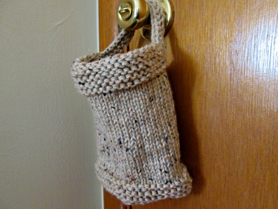 Hanging Basket Knitting Pattern Knitted Storage Pouch Etsy