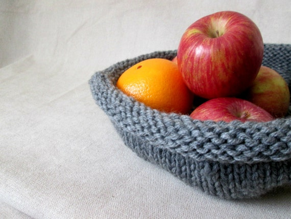 Knit Bowl Pattern Yarn Basket Pattern Shallow Knit Bowl Pattern