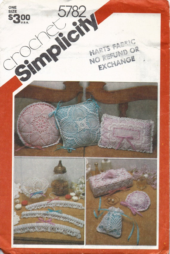Vintage Crochet Home Accessories Pattern Crochet Pillow Etsy