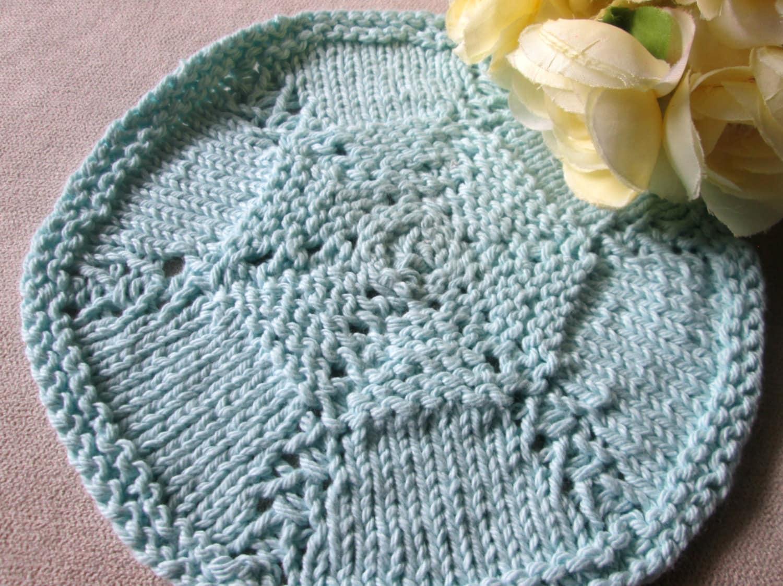 Round Dishcloth Knitting Pattern Circular Dishcloth Knitting
