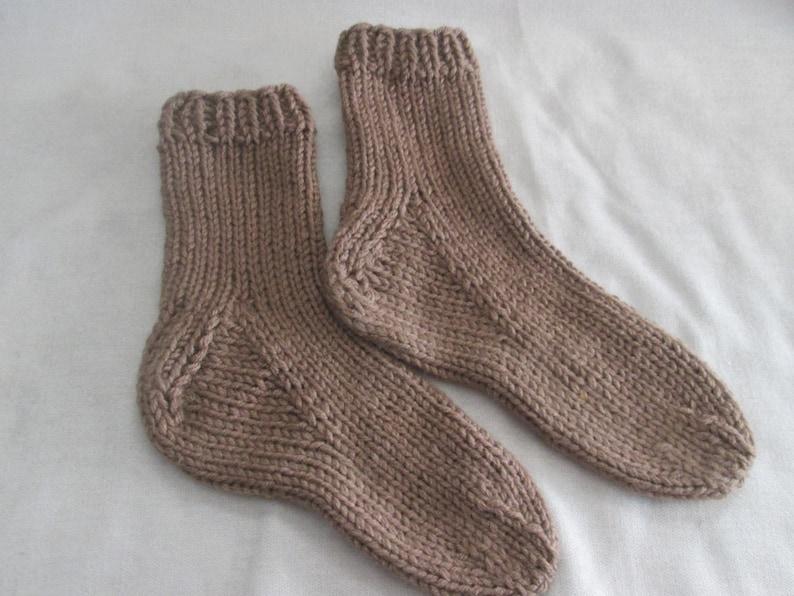 Slipper Socks Knitting Pattern Chunky Knit Socks Pattern ...