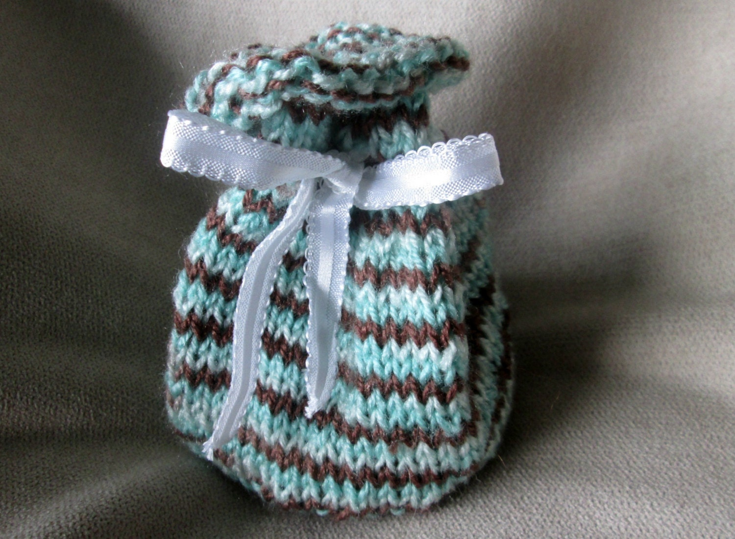 Drawstring Pouch Knitting Pattern, Reusable Knit Gift Bag Pattern ...