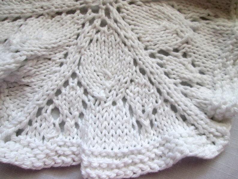 Round Dishcloth Knit Pattern Knit Doily Pattern Lace | Etsy