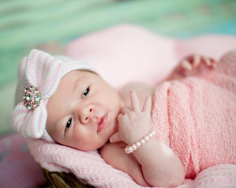 READY TO SHIP newborn hat baby girl hat newborn girl hat baby girl hat  hospital newborn hat newborn hat infant hat baby hat baby bow 10ab026ea77