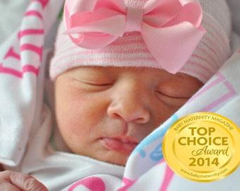 newborn hospital hat with bow Newborn baby baby girl take home outfit baby  girl hat newborn girl hat infanteenie beanie baby girl c3ba695b25b8