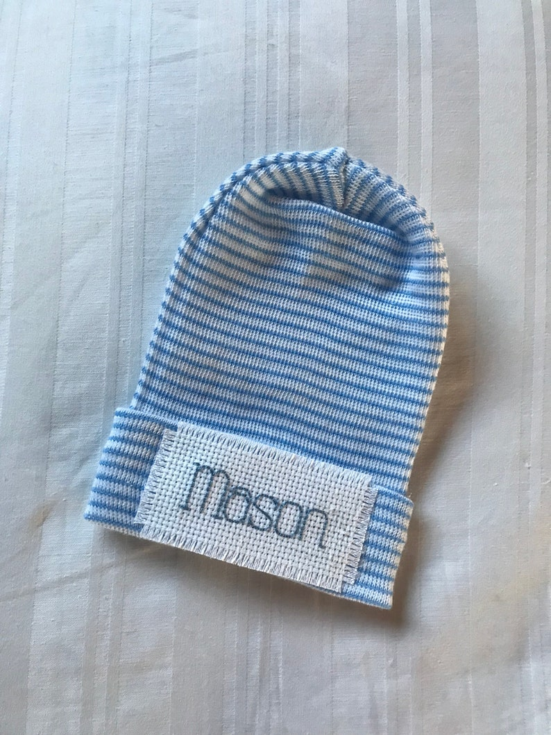 Twins newborn hats for both baby boy and baby girl twins by Infanteenie Beenie