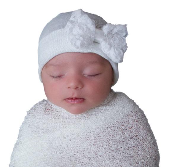 e3a5480278d MORE COLORS baby girl newborn hospital hat white newborn