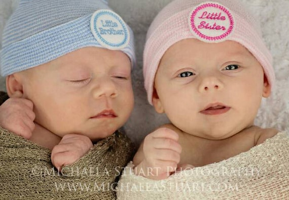 8658fe3c977 Little Brother or Little Sister newborn hospital hat for baby