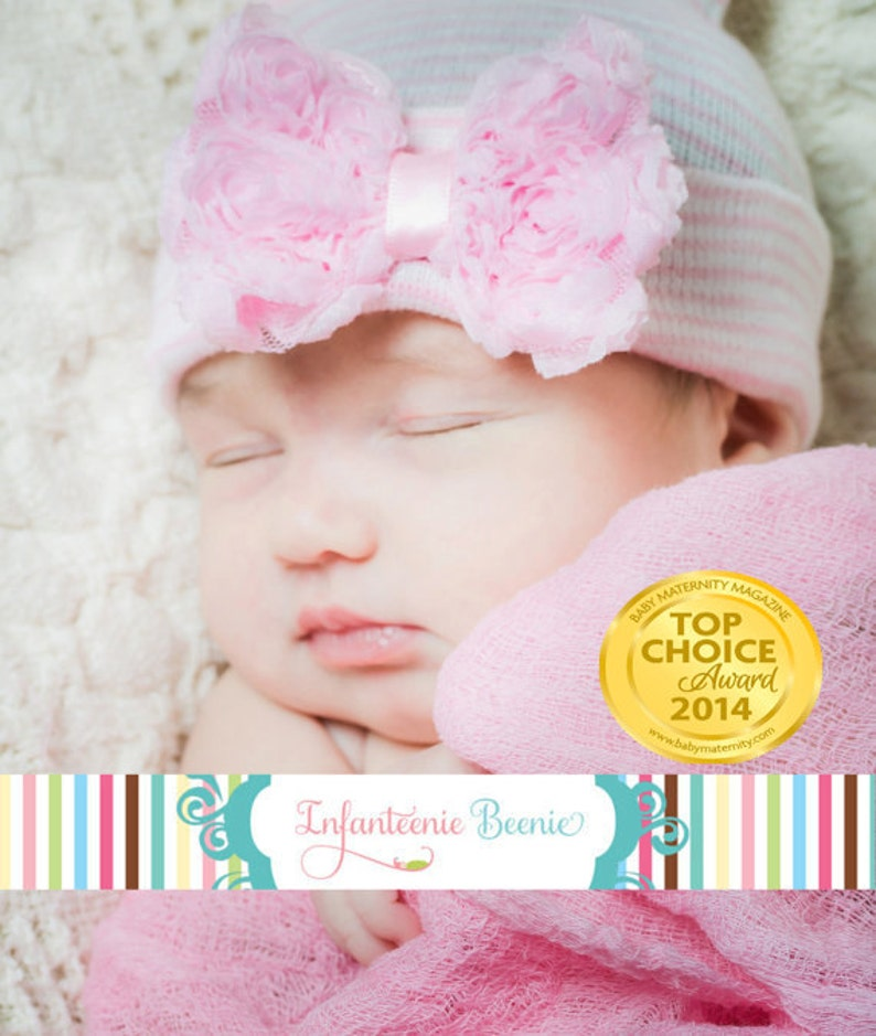ready to ship Baby Beanie for Girls Baby Girl Hat infanteenie image 0
